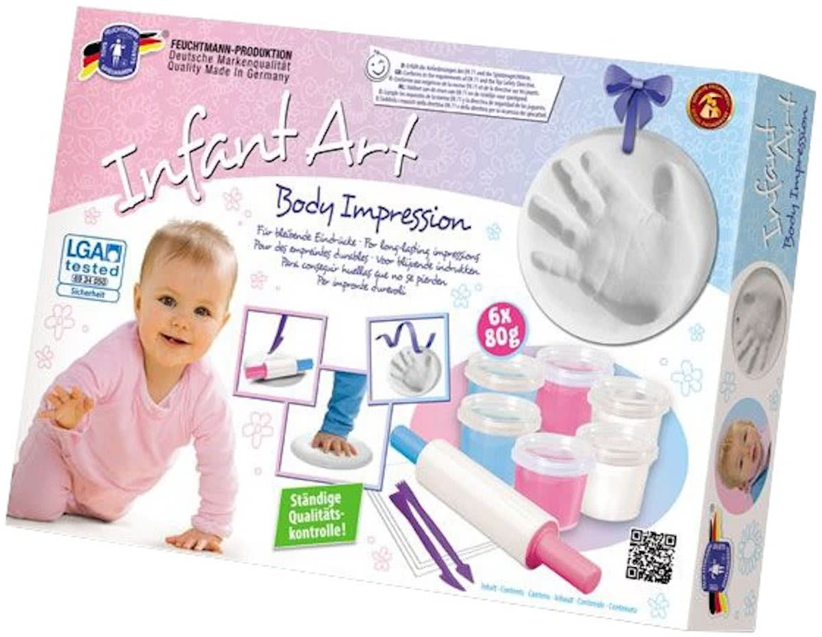 Infant Art Body Impression: Handafdruk Klei