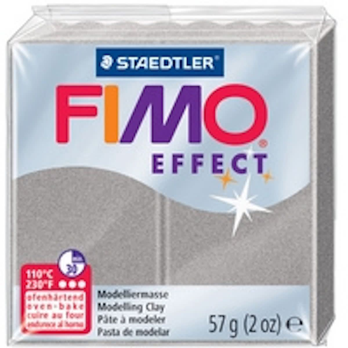 FIMO EFFECT modellering, ovendroging, licht zilver, 57 g