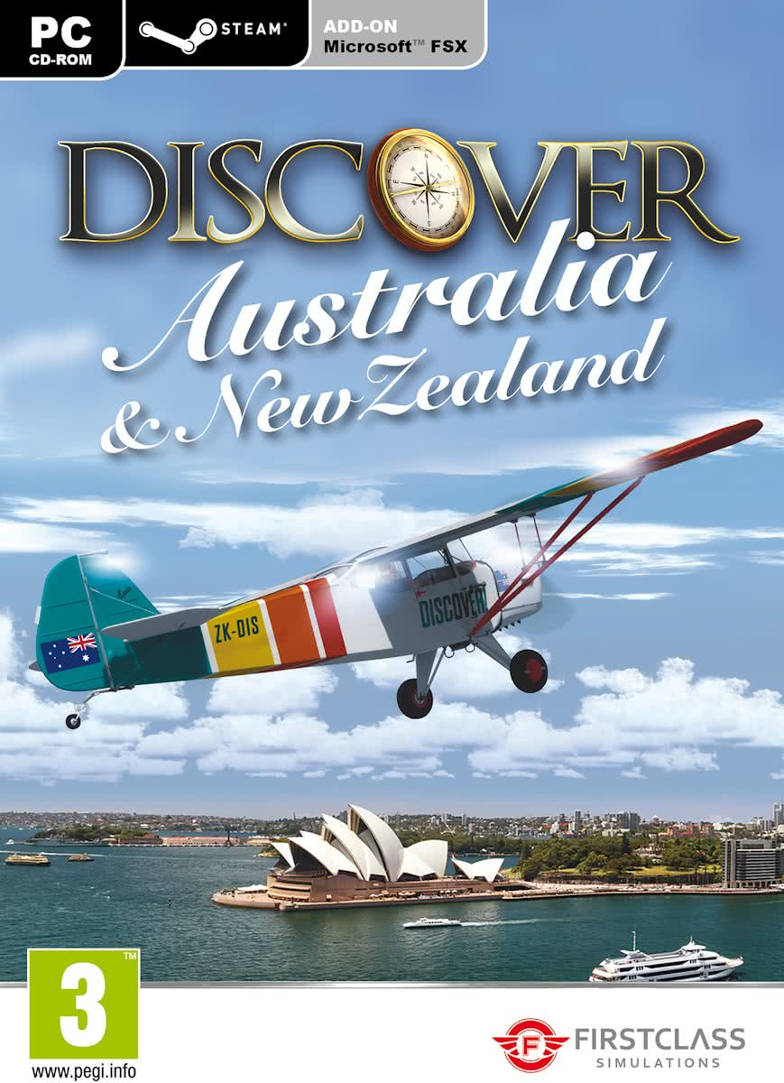 Discover Australia and  New Zealand  (FS X + FS 2004 Add-On) - Windows