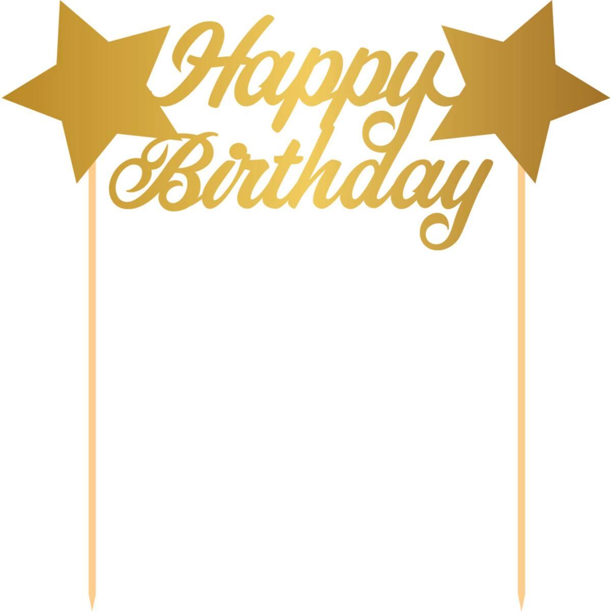 5346c7b766da36 Cake topper happy birthday goud