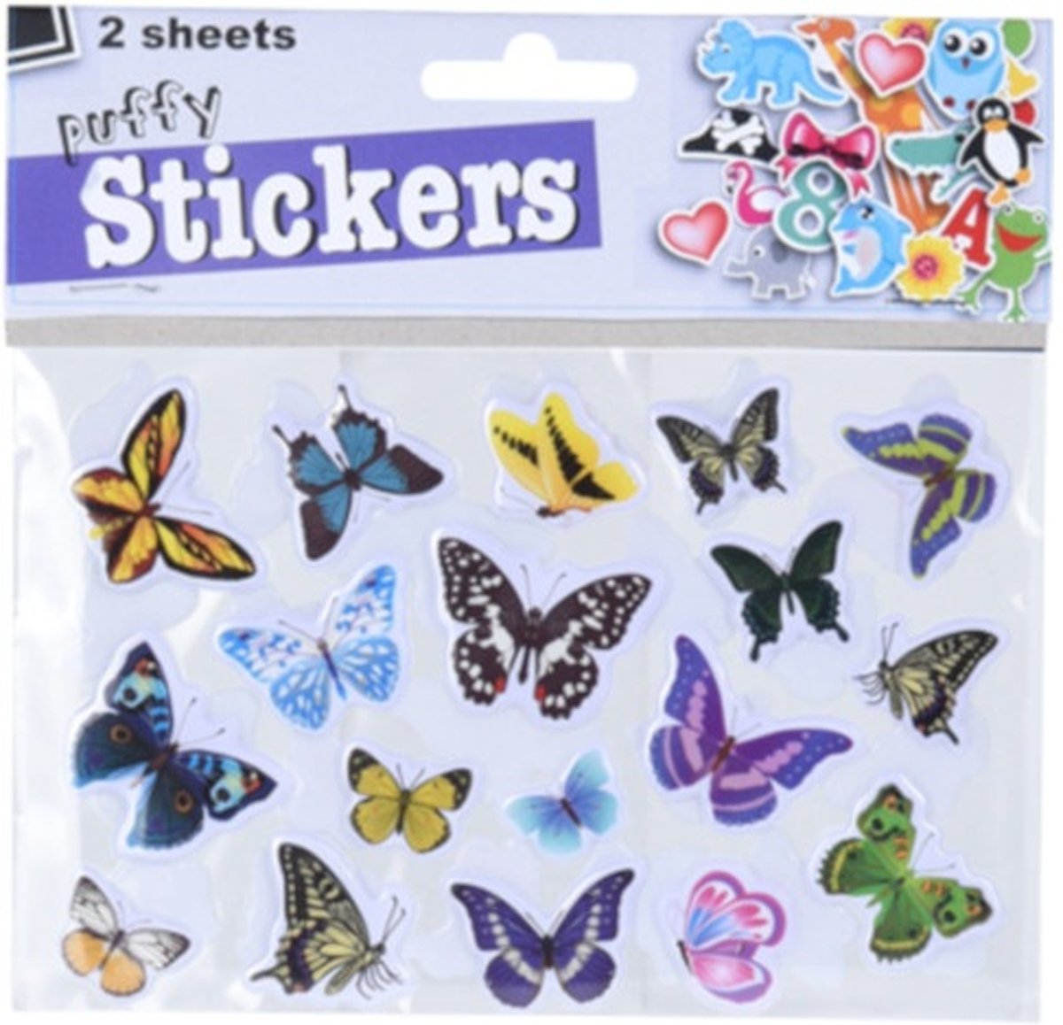 Free And Easy 3d Stickers Vlinders Bloemen 2 Vellen