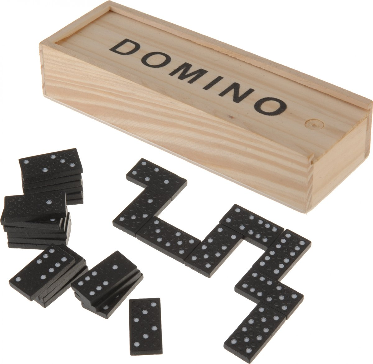 Free And Easy Domino 28 Stenen In Houten Kist Zwart