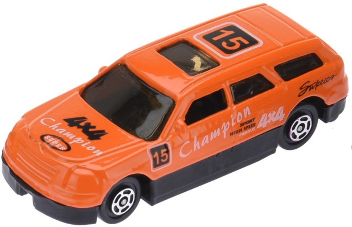 Free And Easy Raceauto 7,5 Cm Oranje