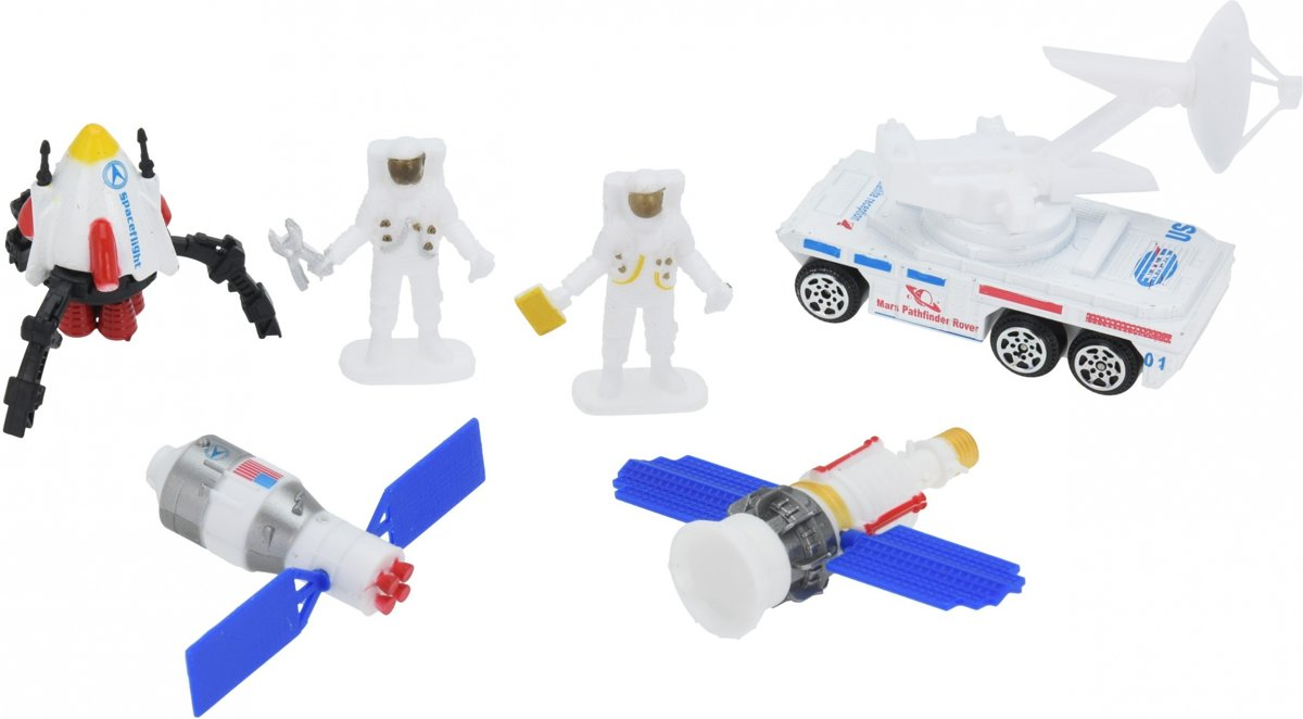 Free And Easy Speelset Space Team Diecast 6-delig
