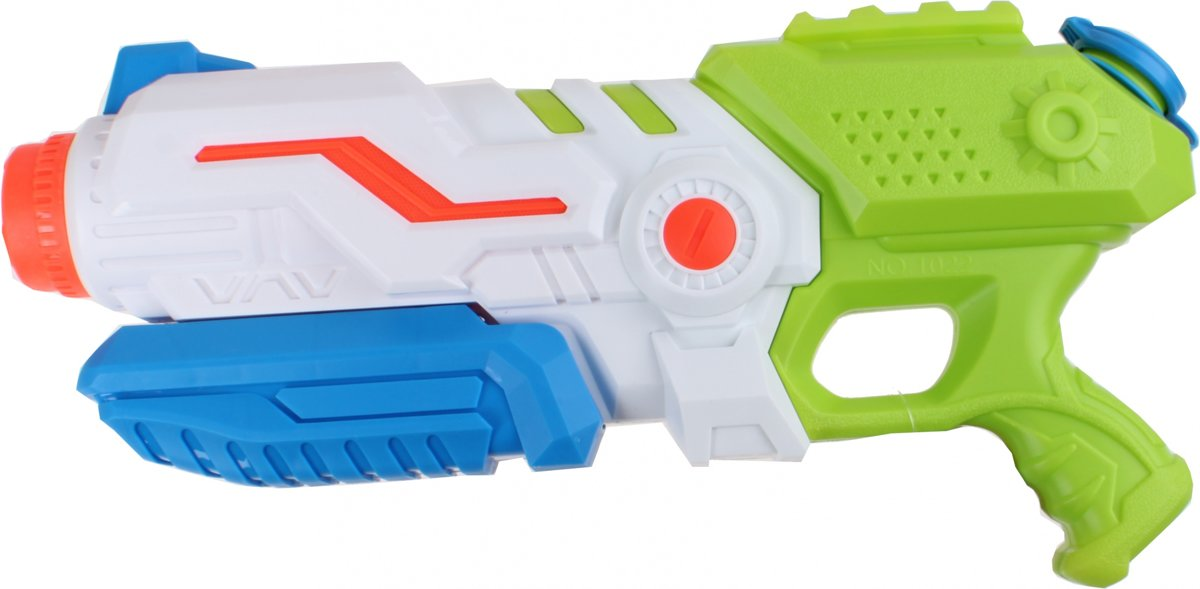 Free And Easy Waterpistool Groen/ Blauw 38 Cm