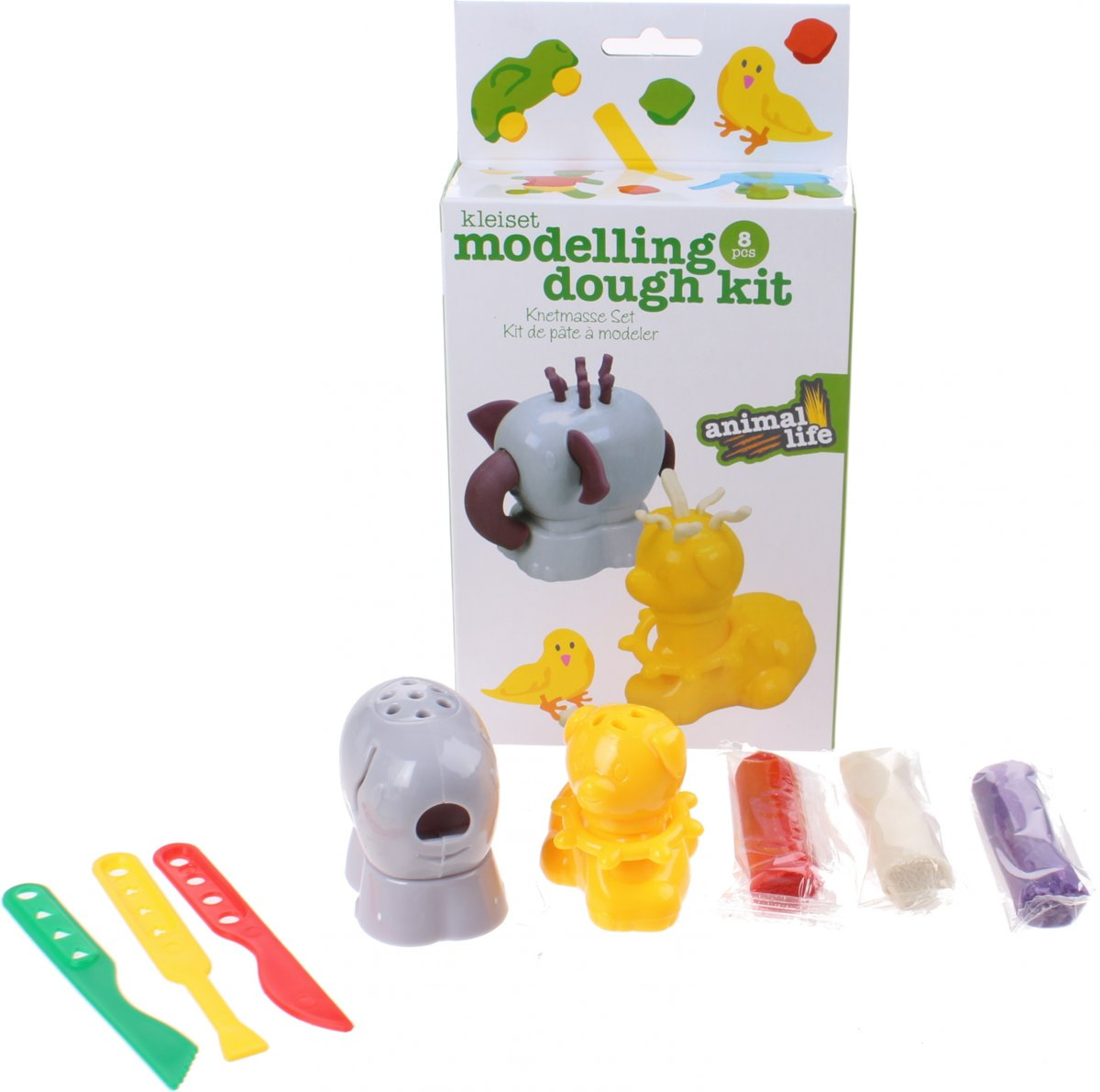 Free And Easy Kleiset Moddeling Dough Kit Groen 8-delig