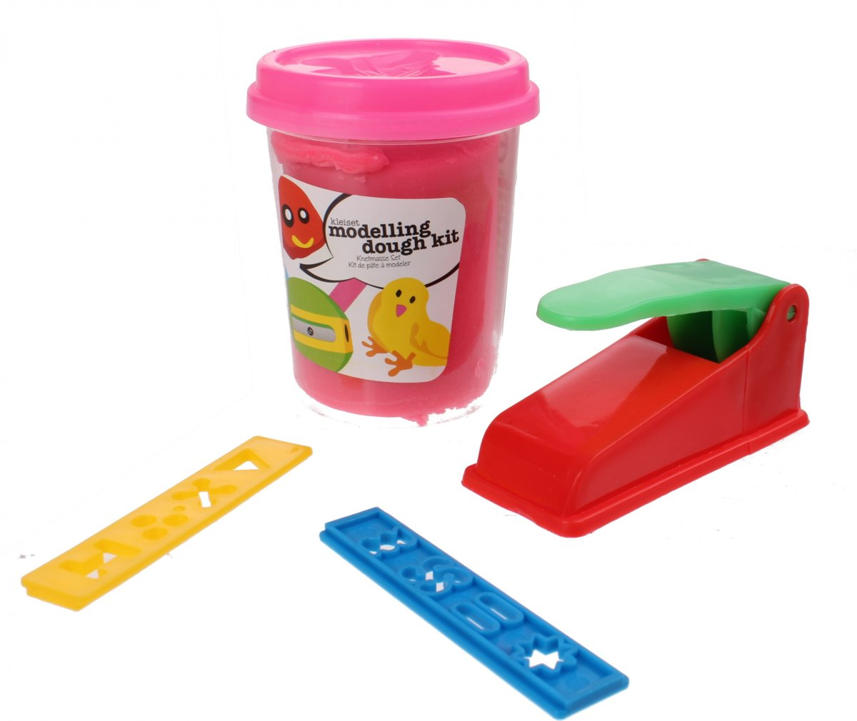 Free And Easy Kleiset Modelling Dough Kit Roze 4-delig