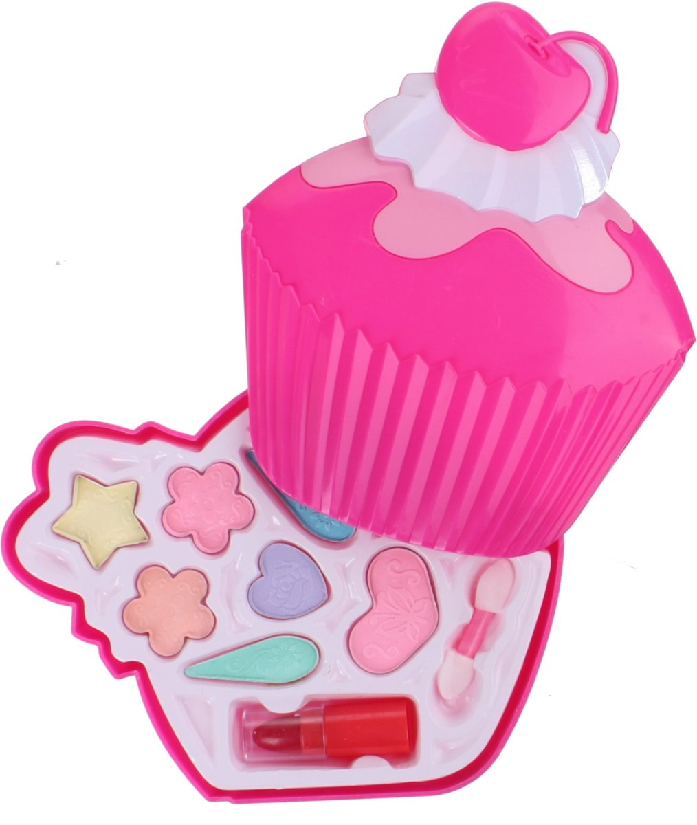 Free And Easy Make-upset Cupcake 12 Cm Roze