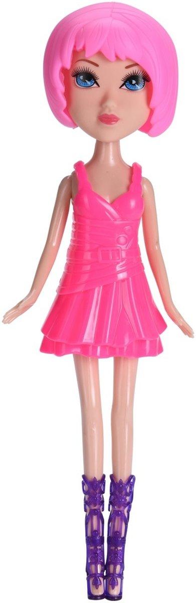 9ddab32a90089b Free And Easy Pop Roze Haar Met Roze Jurk ...
