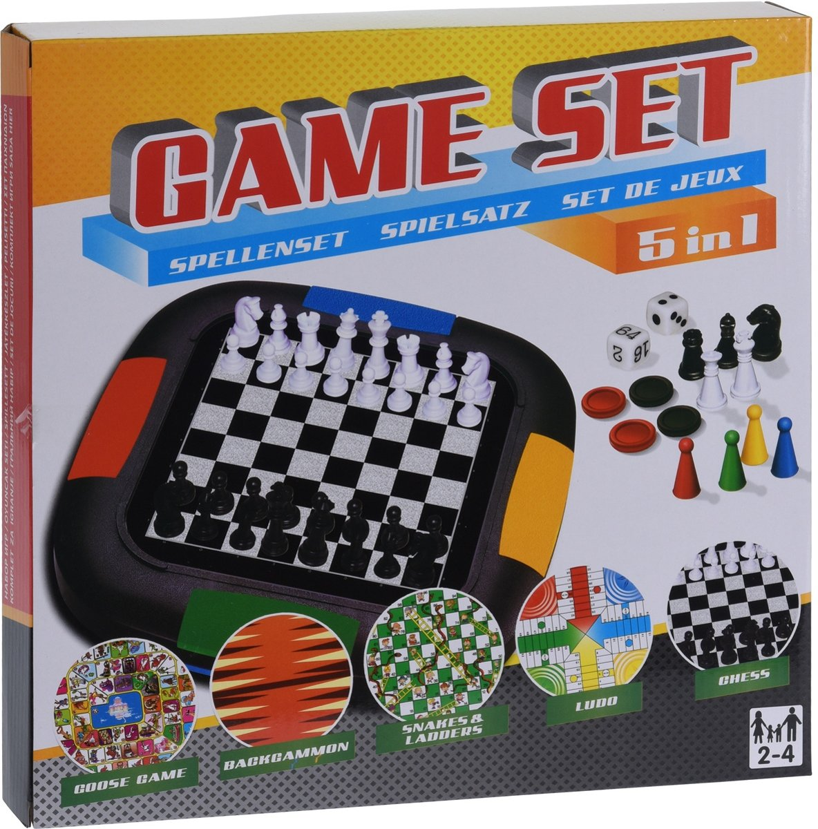 Free And Easy Spellenset Gameset 5-in-1