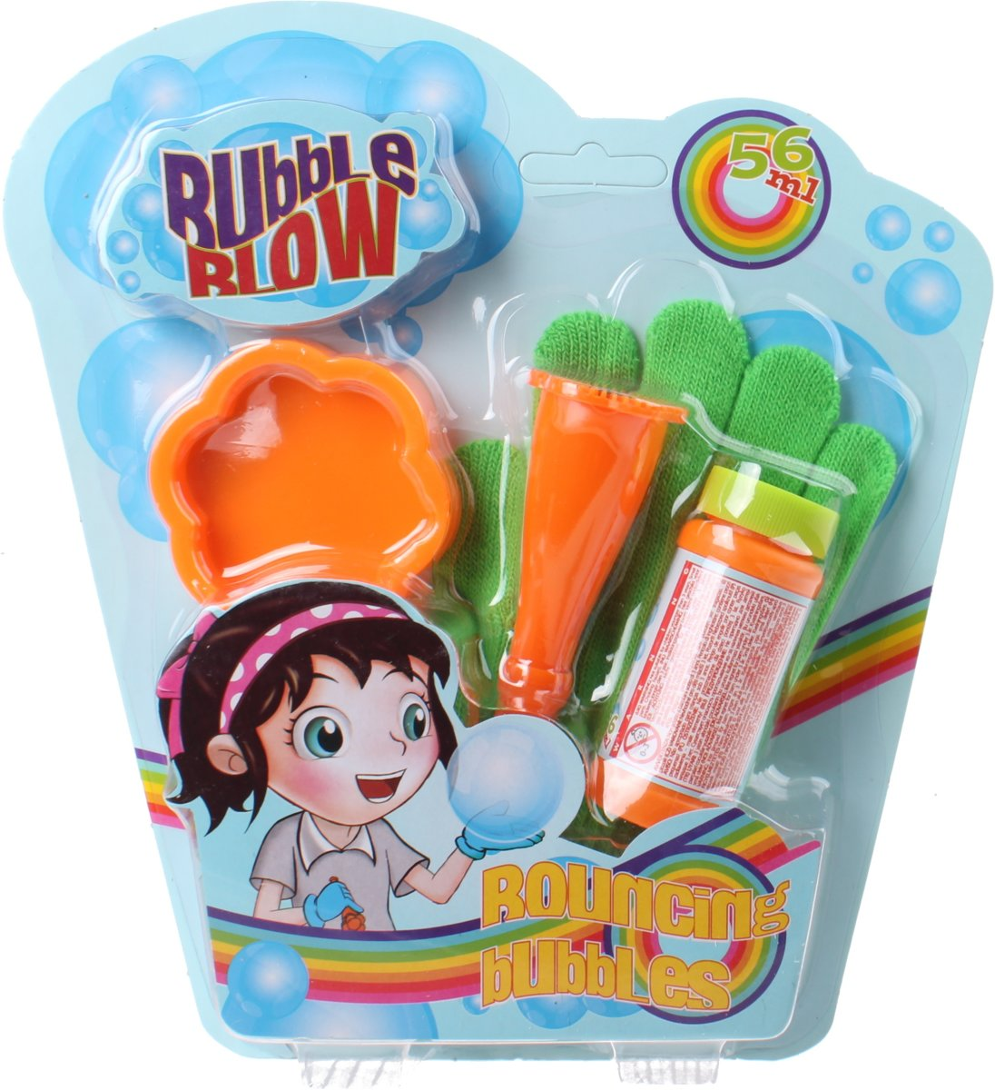 Free And Easy Stuiterbellenblaas Bubble Blow 4-delig Groen