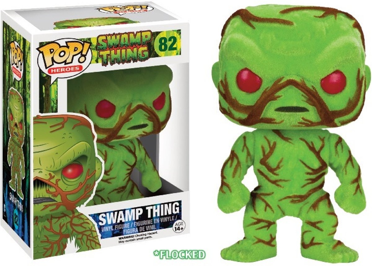 DC Comics POP! Vinyl Figure Flocked Swamp Thing 9 cm