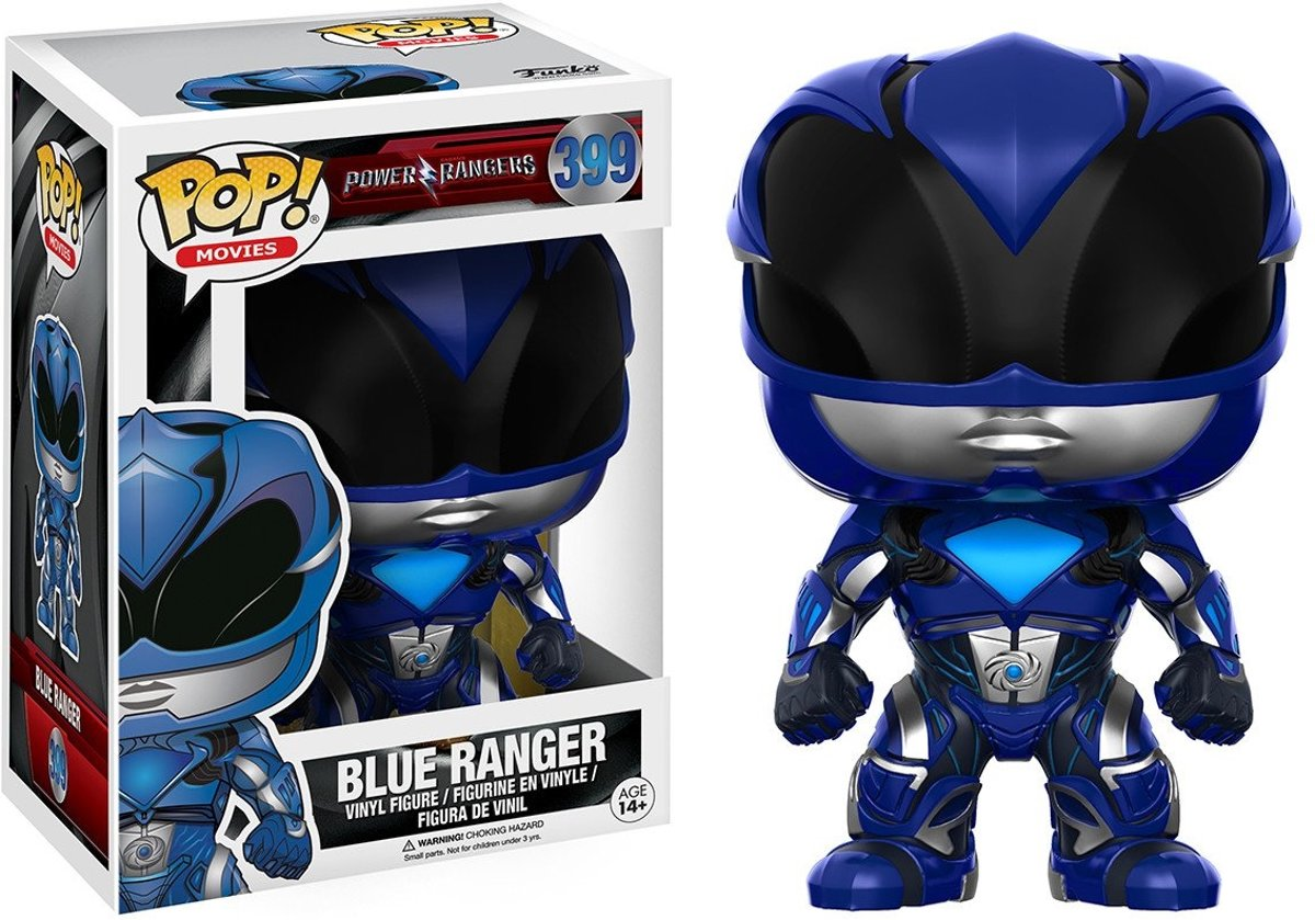 FUNKO Pop! Movies: Power Rangers - Blue Ranger Volwassenen Verzamelfiguur