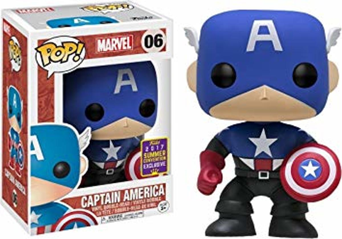 Funko Captain America (Black & Blue) nr 06 SDCC 2017