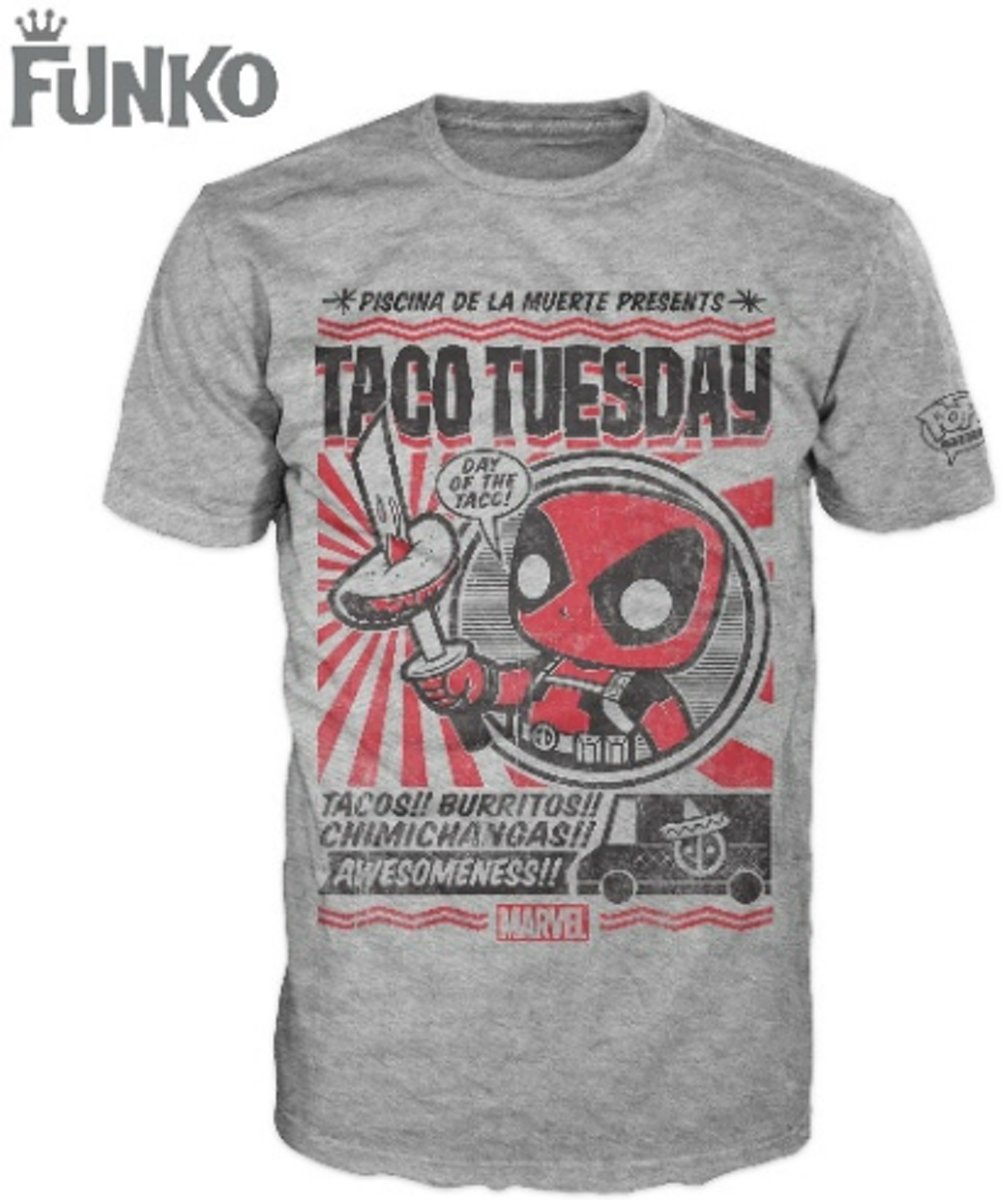 Funko Pop Tees Deadpool Taco Tuesday XS