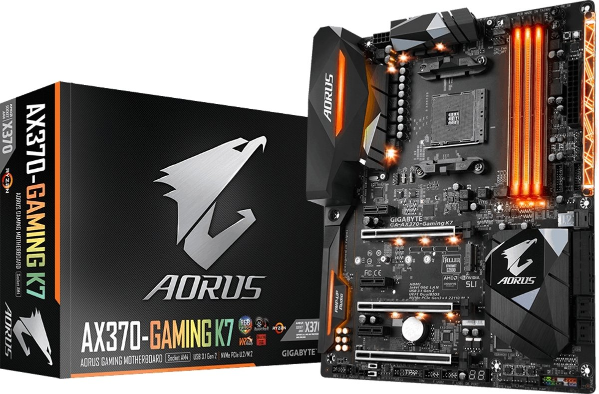 Gigabyte GA-AX370-GAMING-K7 AMD X370 Socket AM4 ATX moederbord