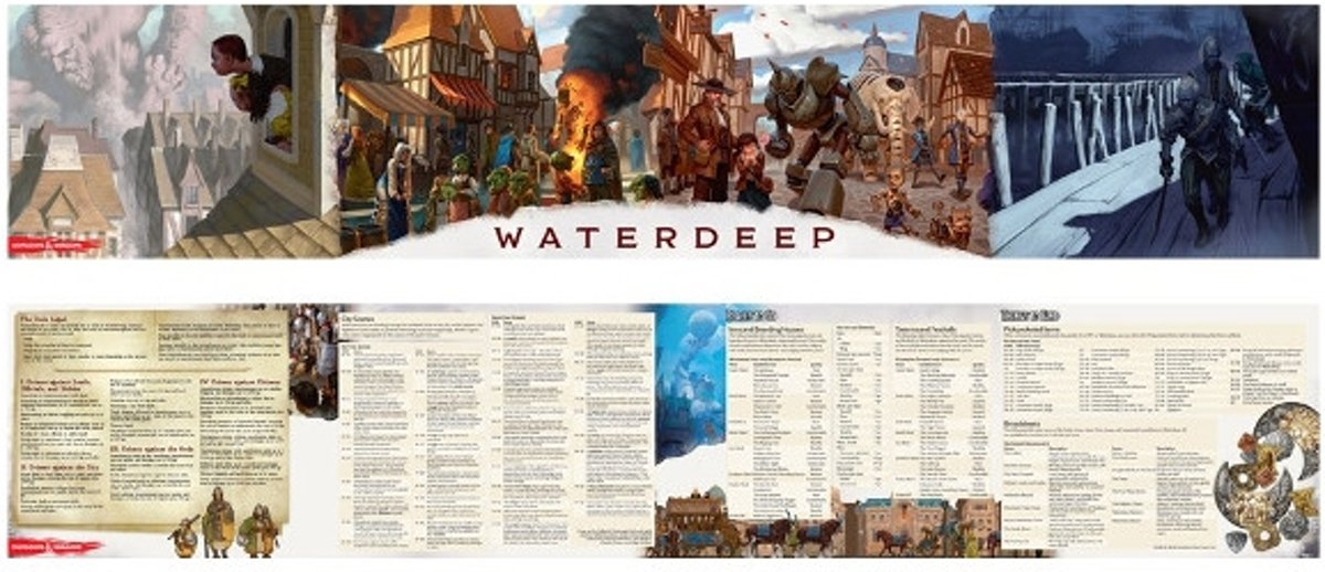 D&D Waterdeep: Dragon Heist - DM screen