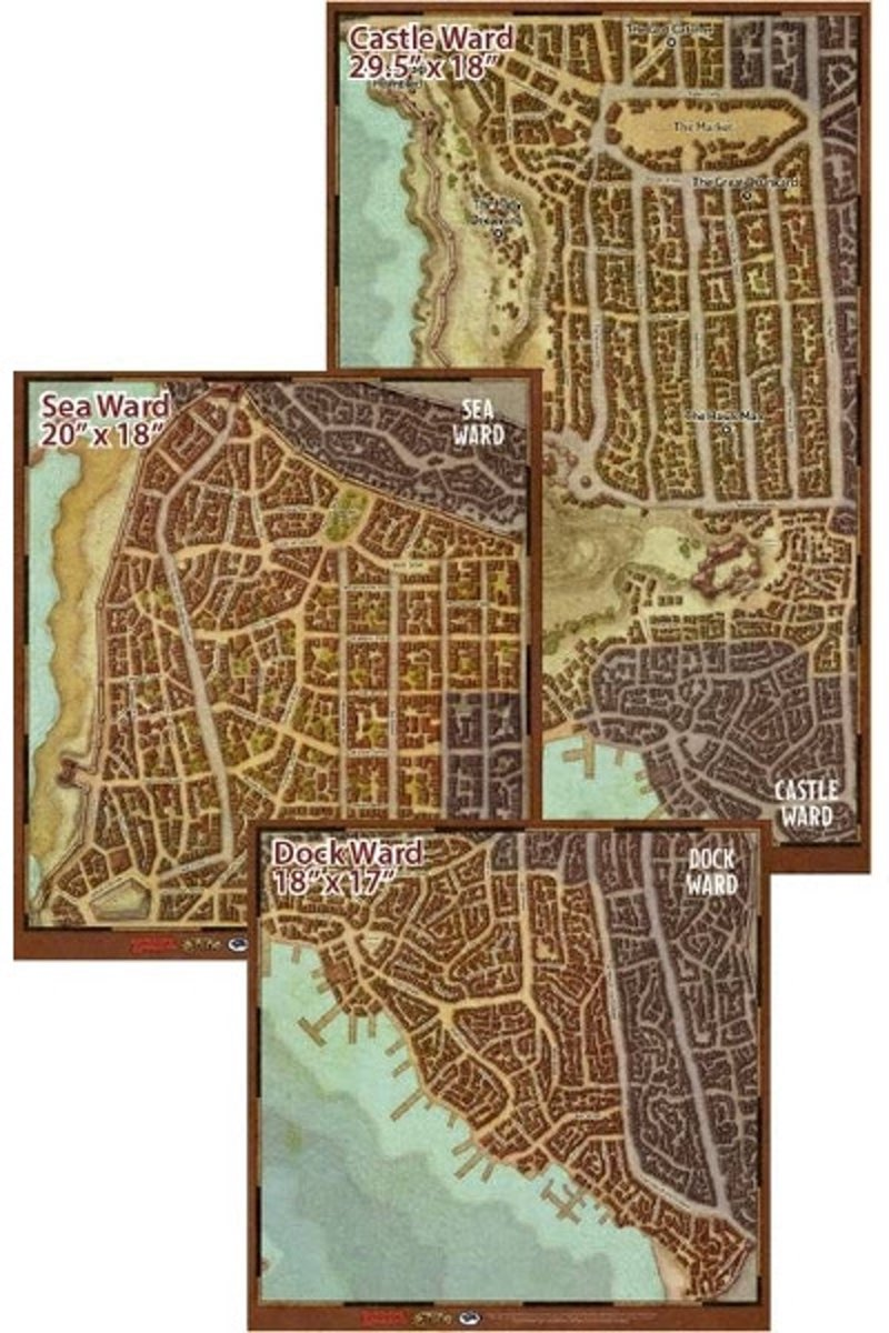 D&D Waterdeep: Dragon heist - Map Set