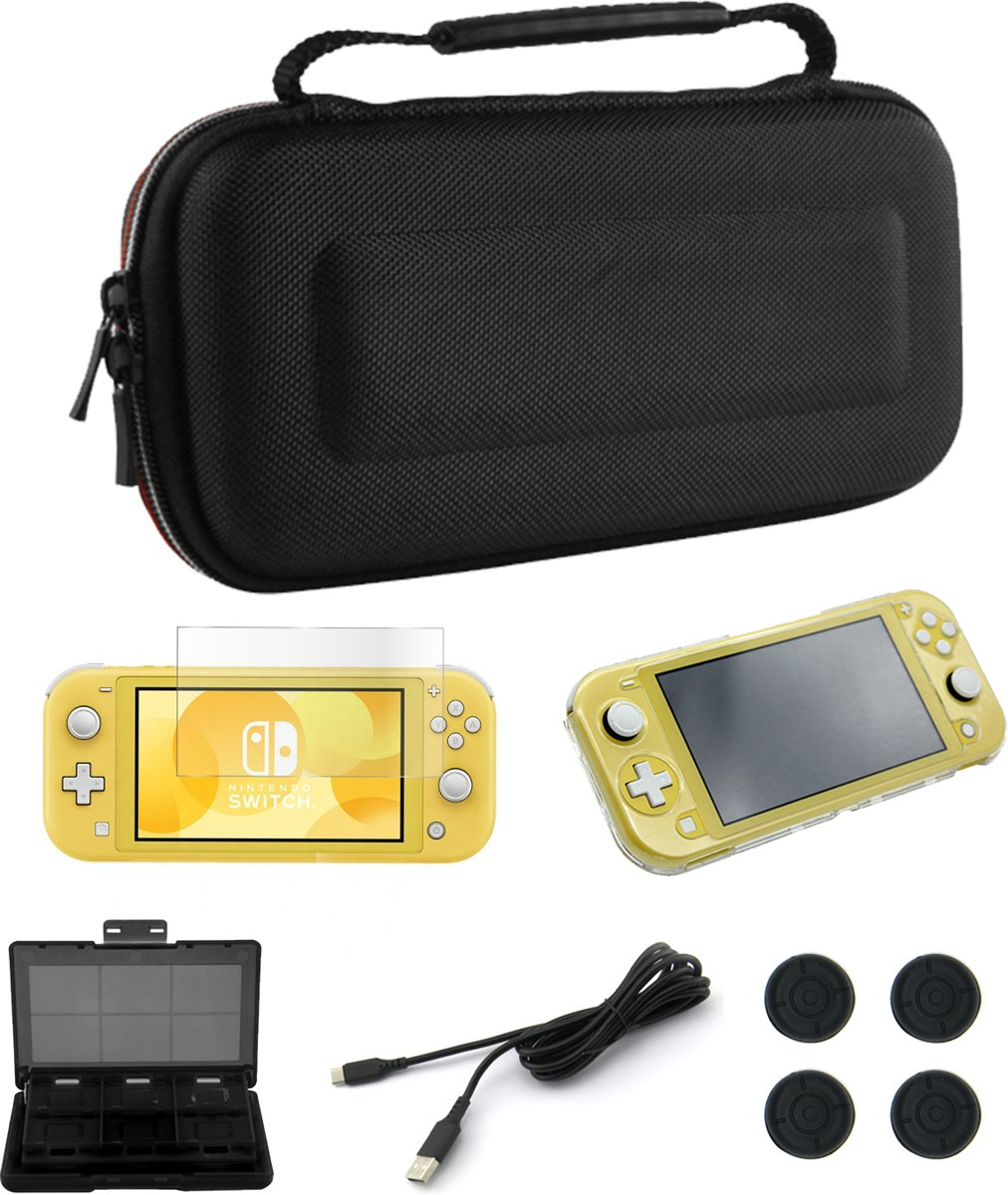 Nintendo Switch case - Nintendo switch accessoires - Gratis Screenprotector - Gamecard case - Usb Kabel - Thumb grips - Hardcase