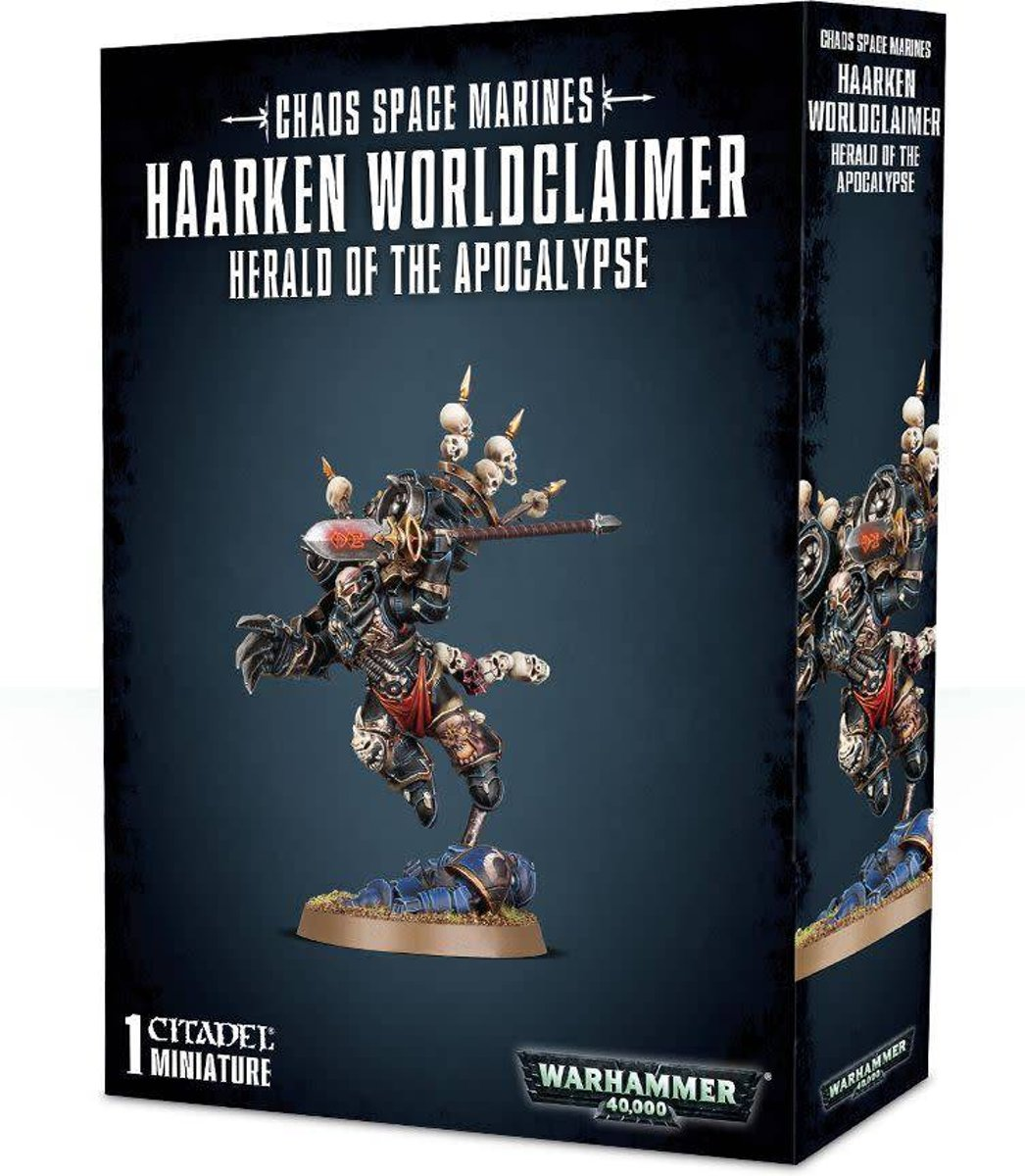 Warhammer 40,000 Chaos Heretic Astartes Chaos Space Marines: Haarken Worldclaimer