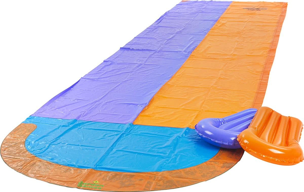 Racing Water Slide - water glijmat - 4,7m - Inclusief 2 Bougie boards