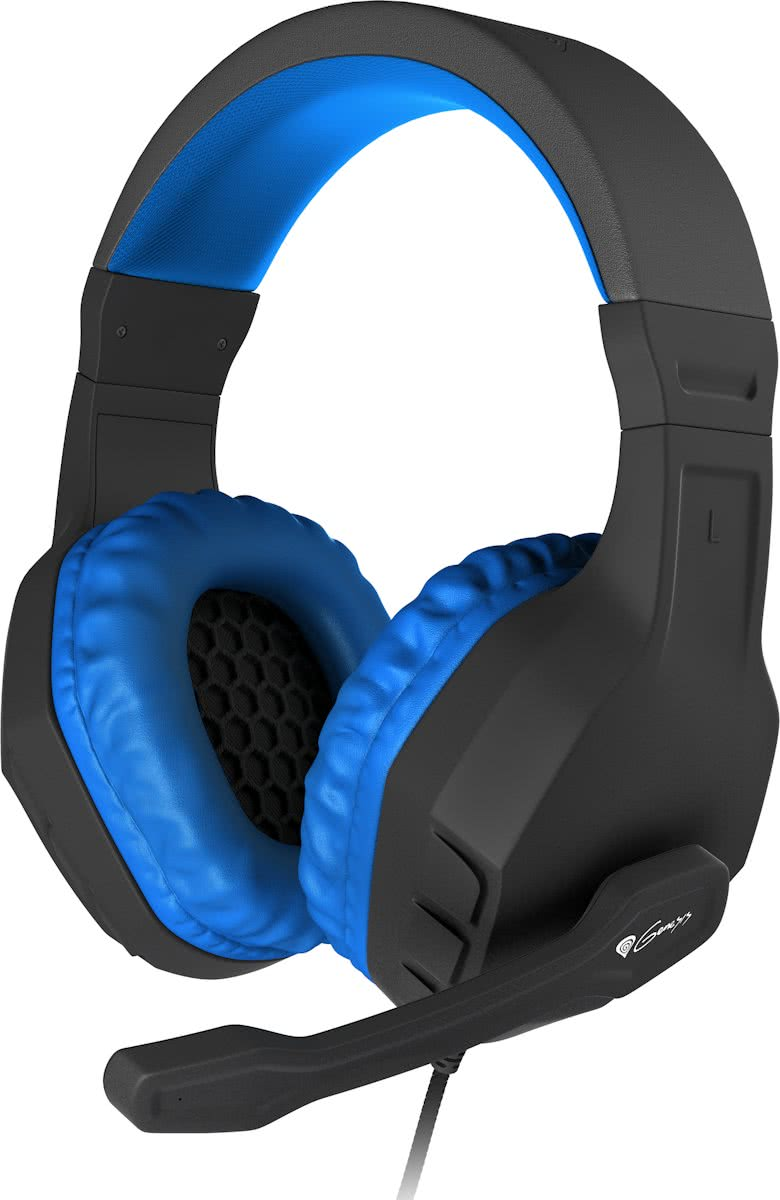 Genesis Argon 200 - Stereo PC Gaming Headset - Blauw