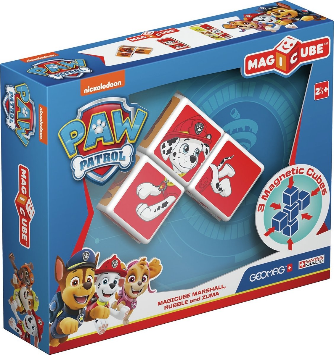 Geomag MagiCube Paw Patrol Marshall, Rubble and Zuma - 3 delig