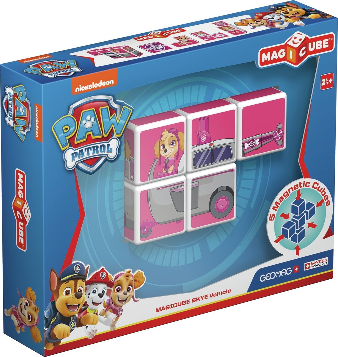 Geomag MagiCube Paw Patrol Skye Helicopter - 5 delig