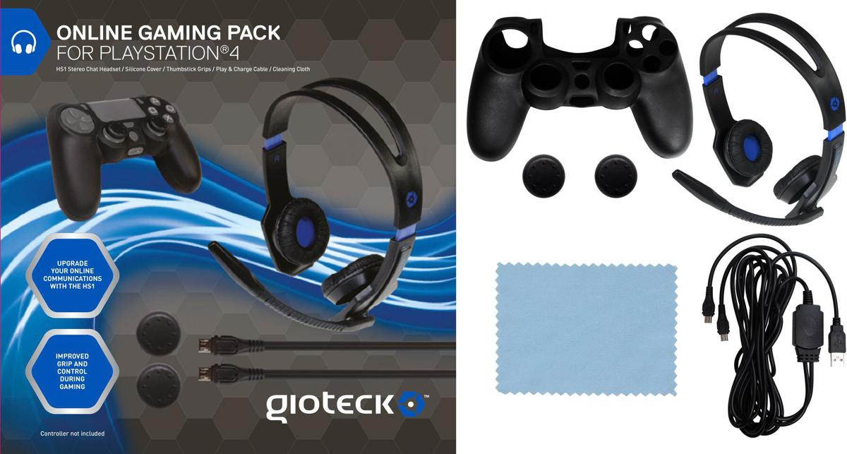 Gioteck Online Gaming Pack - PS4