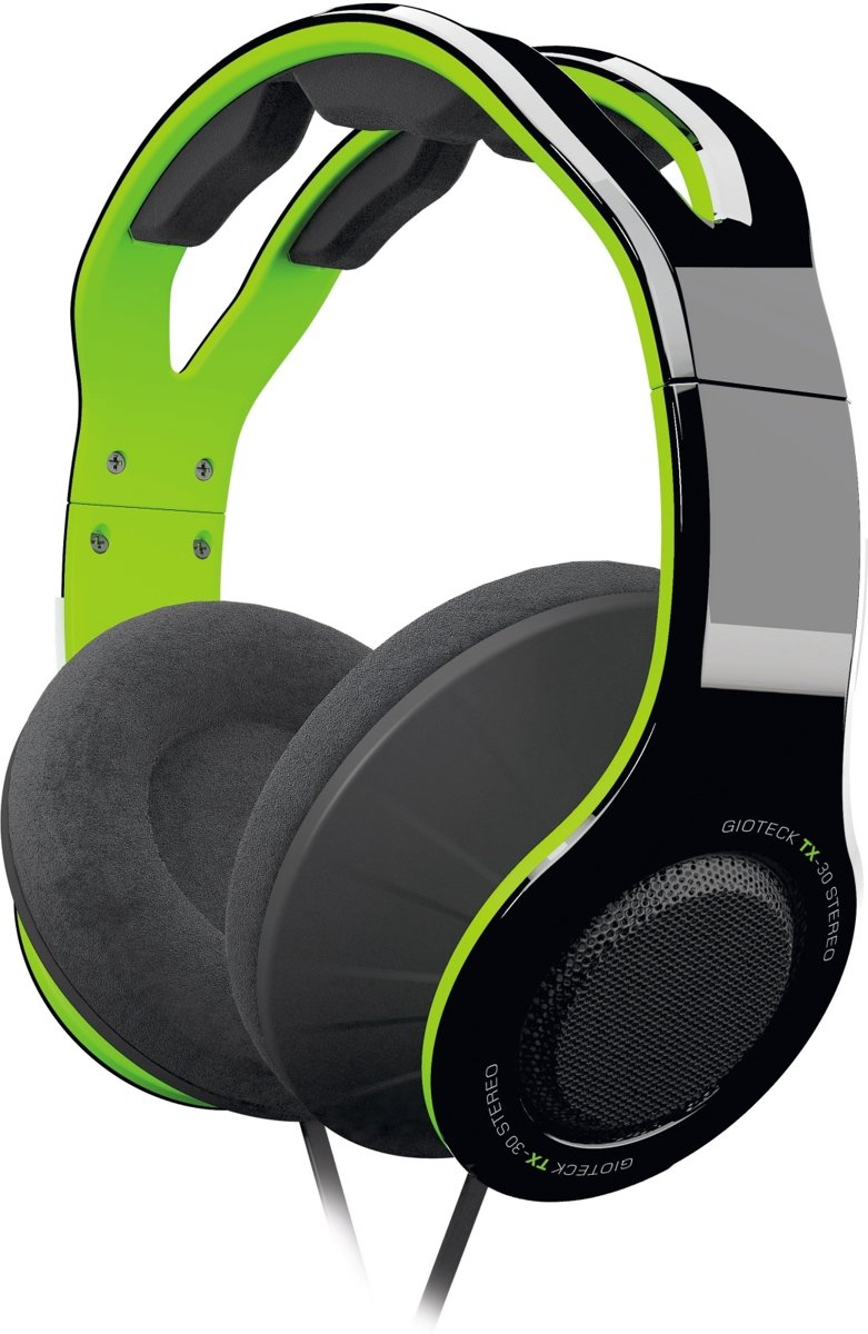 Gioteck TX30 - Stereo Gaming & Go Headset - Zwart/Groen - Xbox One + PC + Mobile