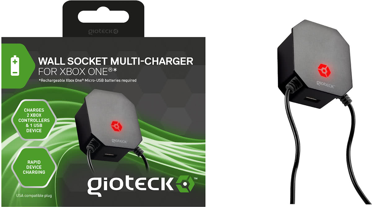 Gioteck Wall Socket Multicharger (Xbox One)