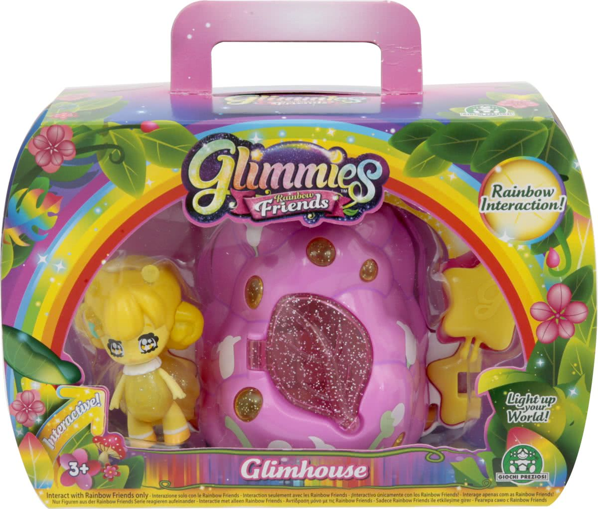 Glimmies Glimhouse Huis Struik - met 1 Glimmies Rainbow Friends Exclusive
