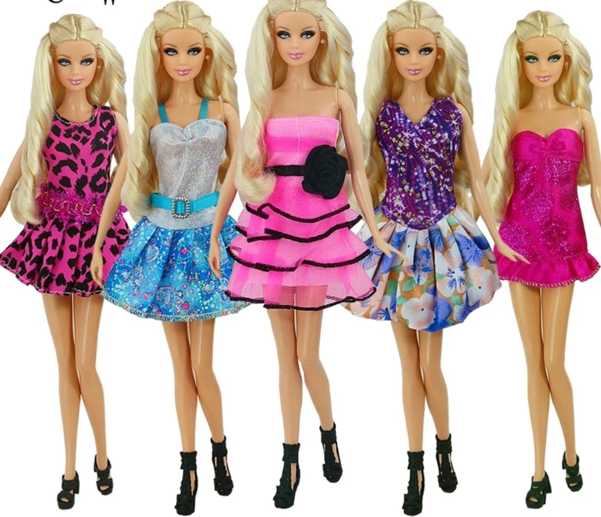 Barbie kleding - 5 delige set - outfits - poppenkleding - fashion  outfiths voor mode poppen - Global