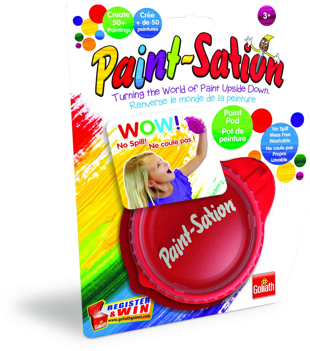 Paint-Sation refill colour red