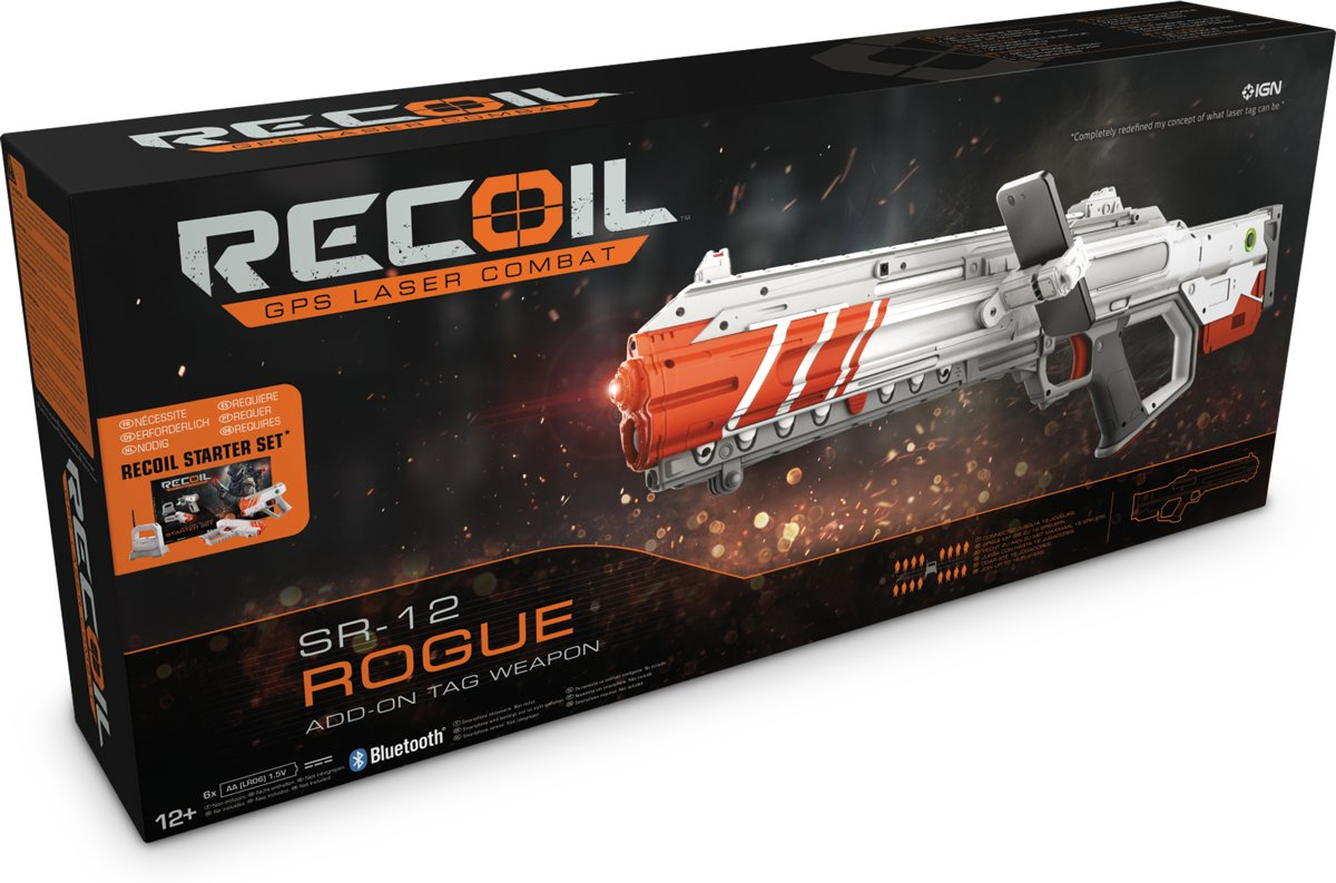 Recoil - SR-12 Rogue - Laser GPS FPS Spel - Goliath
