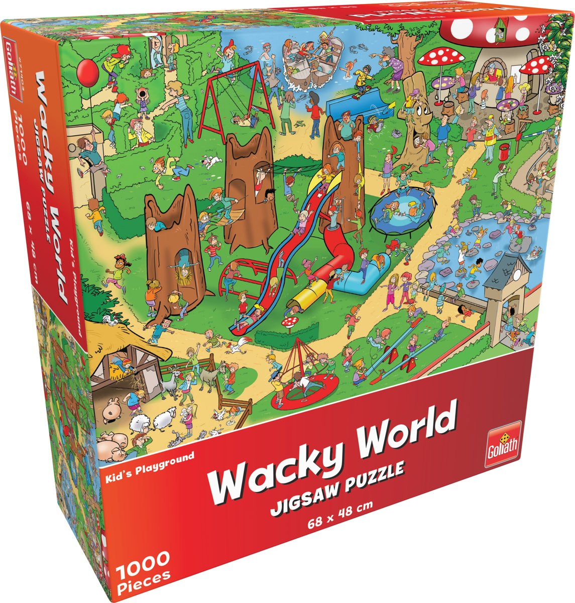 Wacky World - Kinderspeelplaats - Legpuzzel, van Goliath