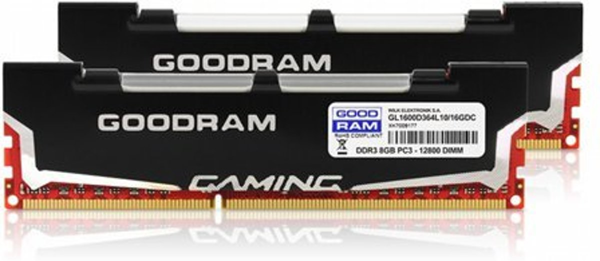 DDR3 LED 16GB PC1600 CL10 GoodRam 2x8GB KIT retail