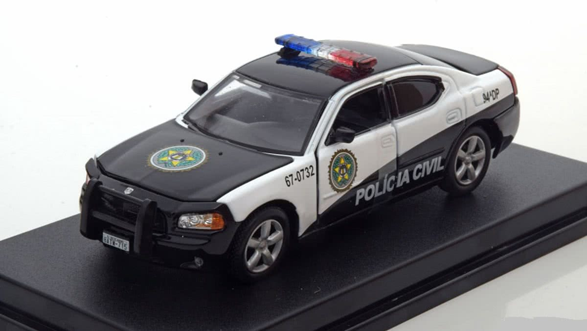 Fast and Furious Dodge Charger Policia Civil Greenlight 1/43
