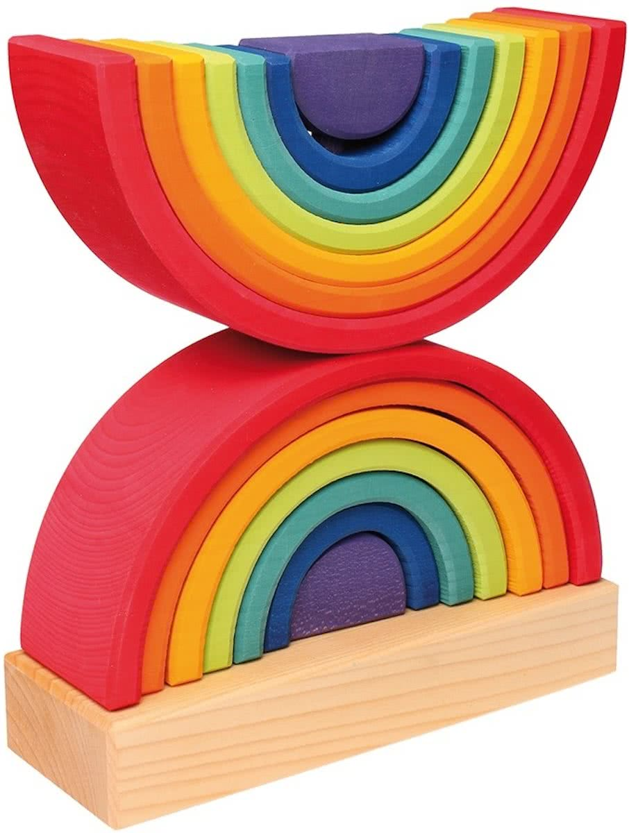 Stacking Tower Rainbow (27cm hoog)