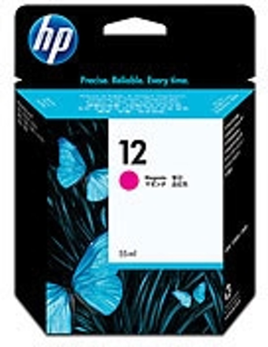HP 12 Inktcartridge - Rood