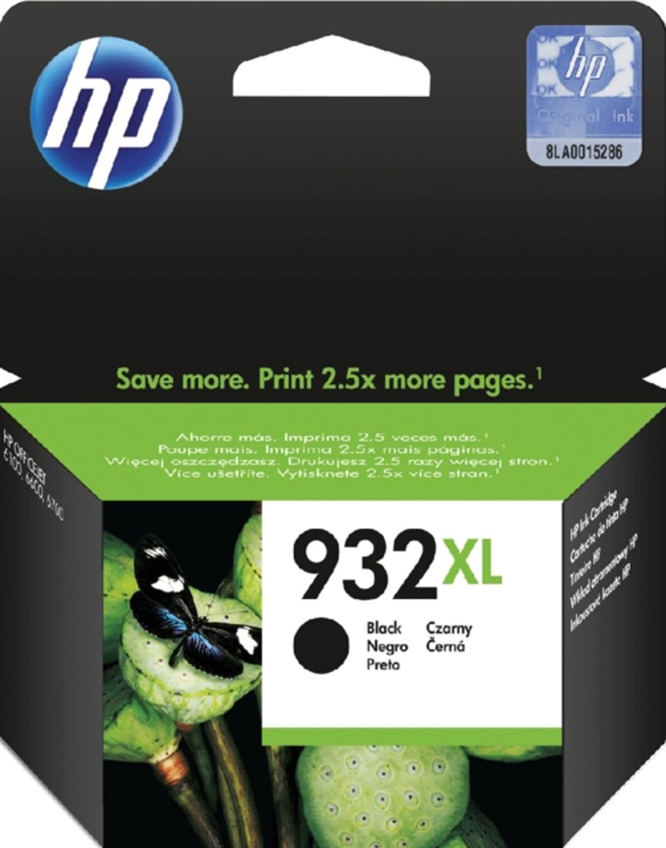 HP 932 XL - CN053AE - Inktcartridge Zwart / Black