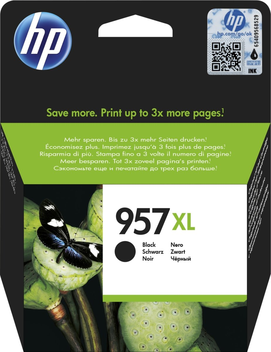 HP 957XL Extra High Yield Original Inkt Cartridge Zwart Blister