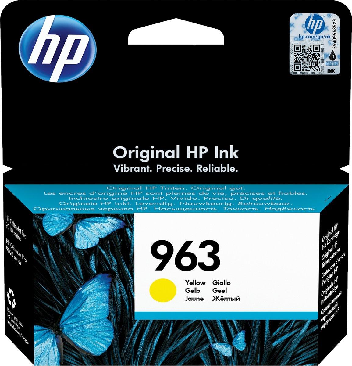 HP 963 (3JA25AE) Inktcartridge Geel