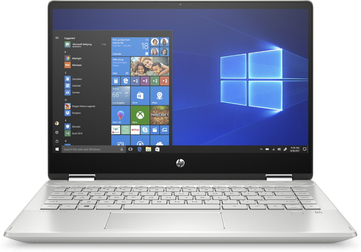 HP Pavilion X360 14-dh0006nb - 2-in-1 Laptop - 14 Inch - Azerty