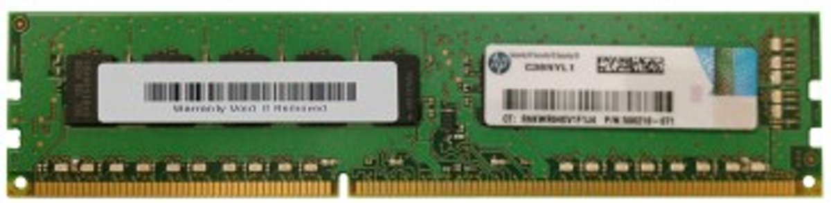 Hewlett Packard Enterprise 500210-071 DDR3 ECC Unbuffered SERVER RAM 1x4GB