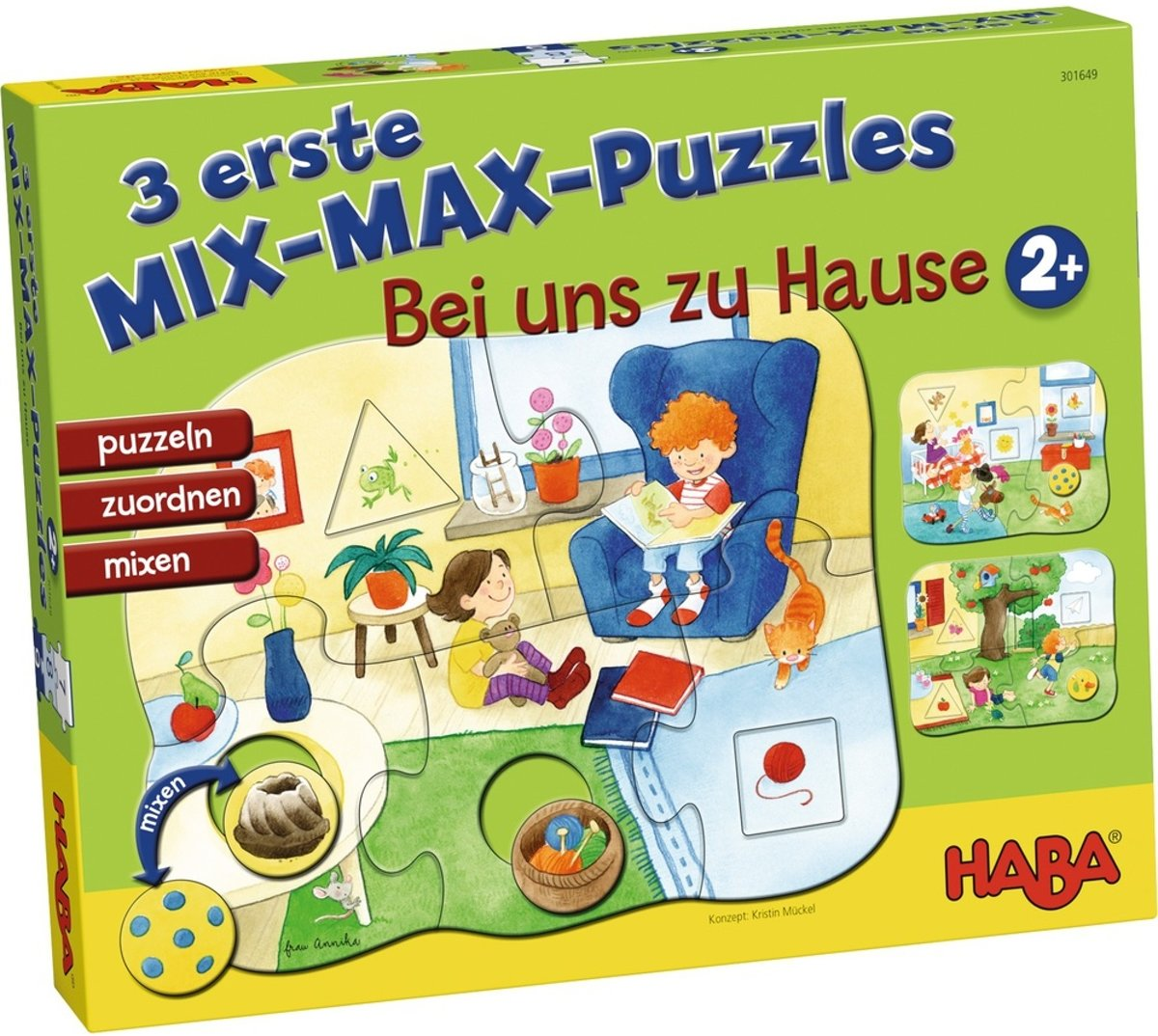 Haba Mix-max-kinderpuzzels In Huis 4-delig De