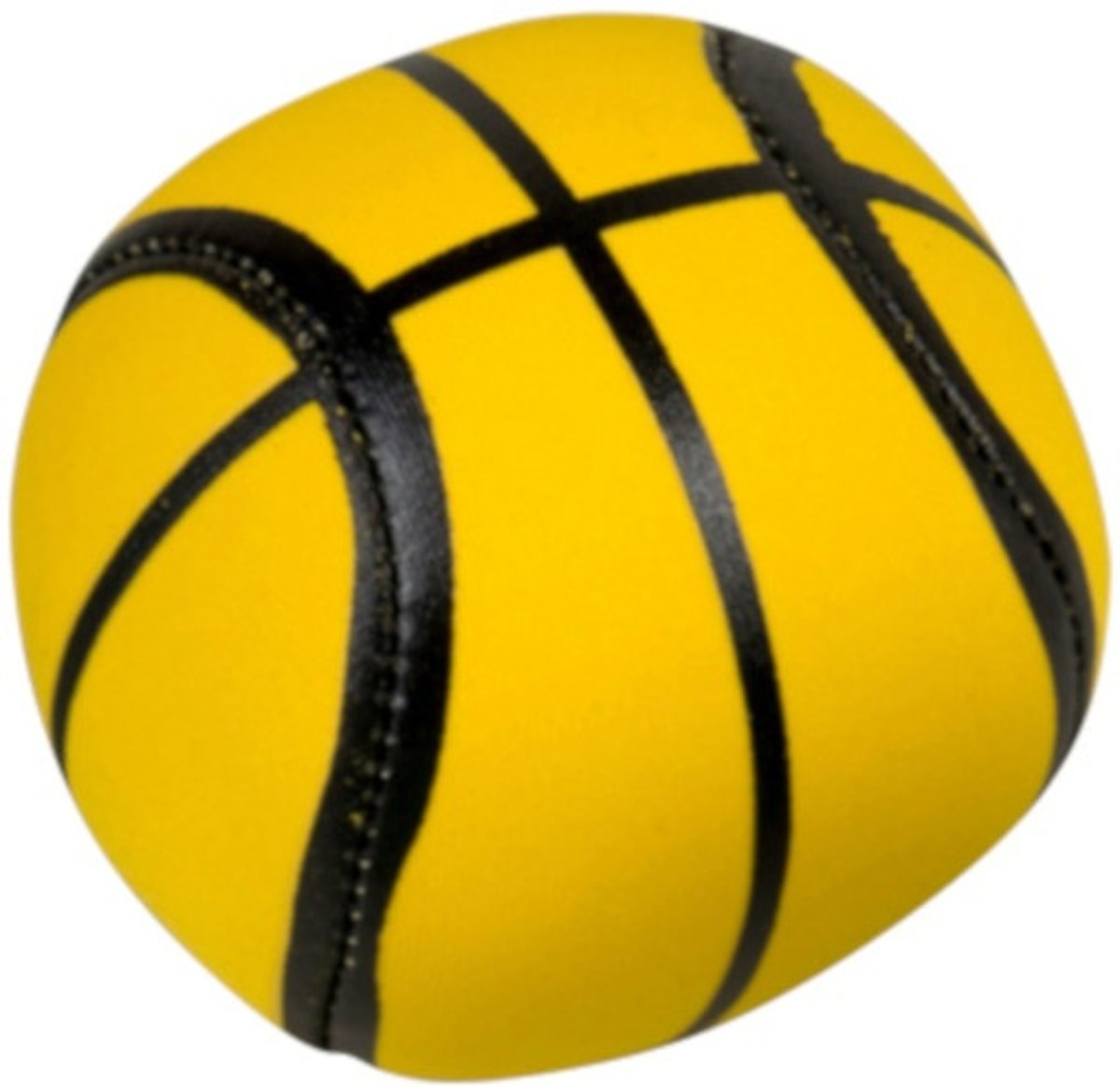Splashbal Basketbal 13 Cm Foam Geel