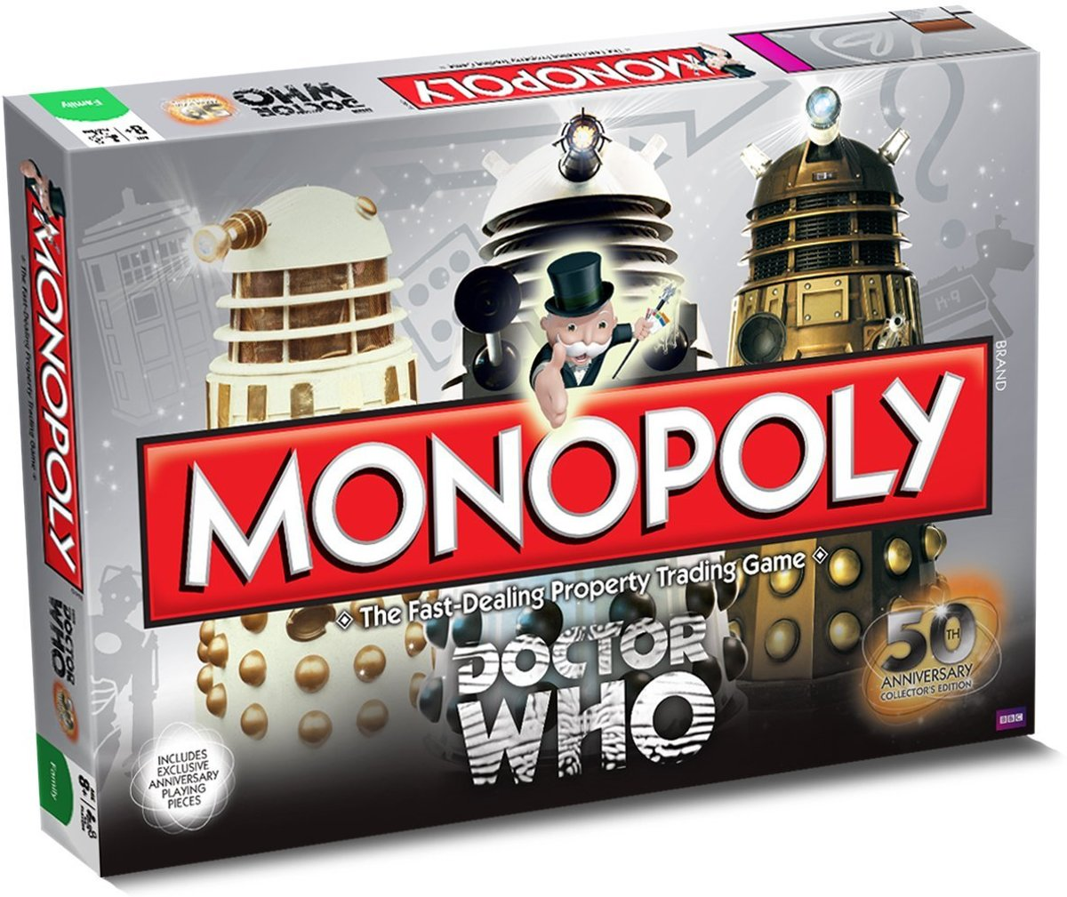 Dr Who - 50th Anniversary Collectors Edition MONOPOLY Bordspel - IMPORT