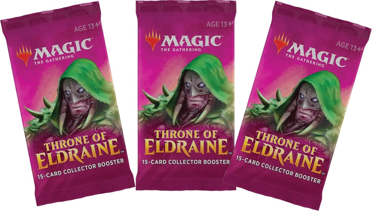 Magic The Gathering: Throne of Eldraine Collector Booster 3-pack
