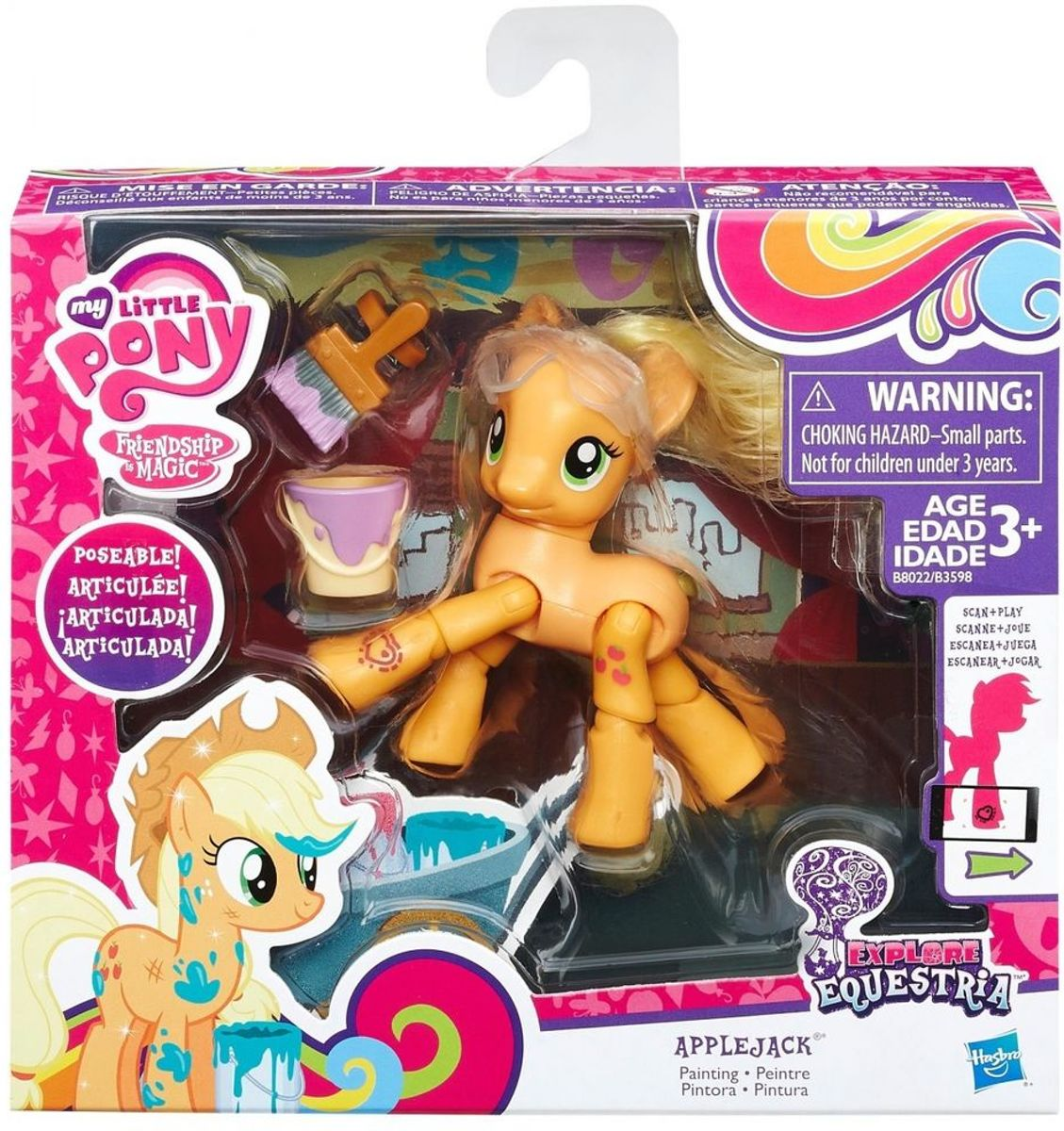My Little Pony beweegbare pony Set Applejack gaat schilderen